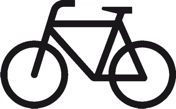 Radfahrer - Symbol aus Thermoplastik