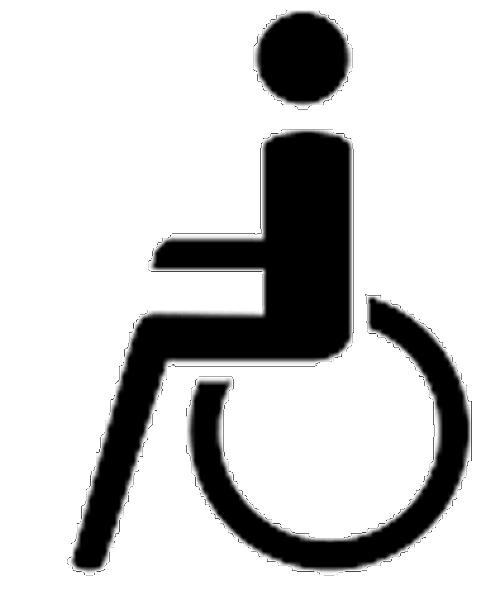 Rollstuhlfahrer- Symbol aus Thermoplastik