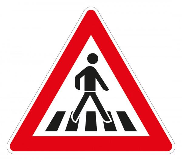 Fußgängerüberweg Aufstellung links VZ 145-22 aus Thermoplastik