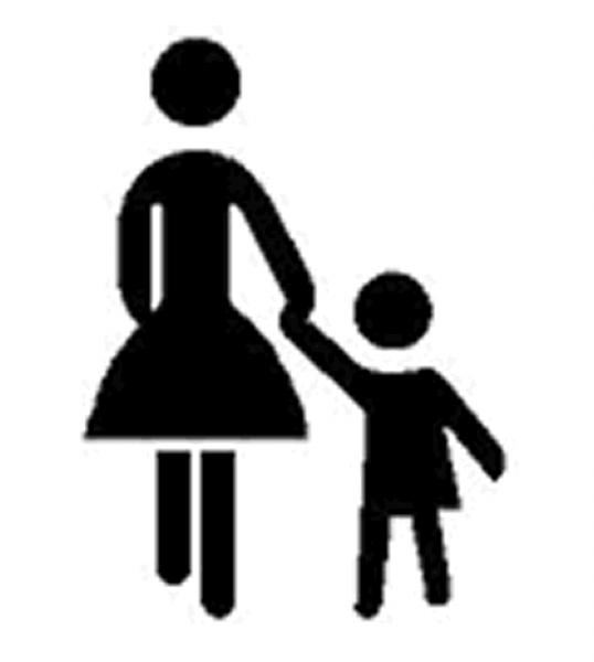 Kinder - Symbol aus Thermoplastik