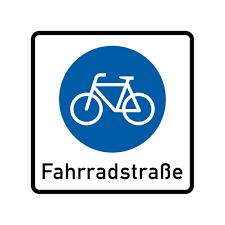 Fahrradstraße VZ 244 aus Thermoplastik