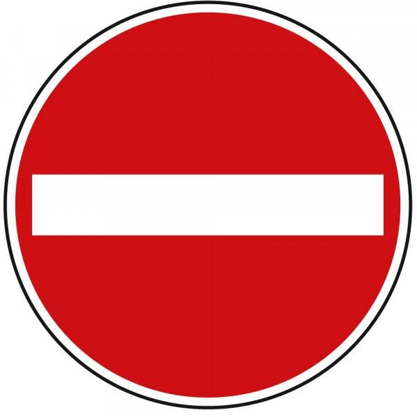 Verbot der Einfahrt VZ 267 aus Thermoplastik