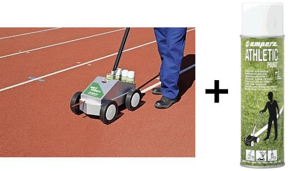Athletic Athletic Paint® Starterpaket (Gerät + 3 Karton (a 12 Dosen) Sprühkreide Athletic Paint®)