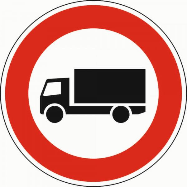 Verbot für Kraftfahrzeuge über 3,5 to VZ 253 aus Thermoplastik