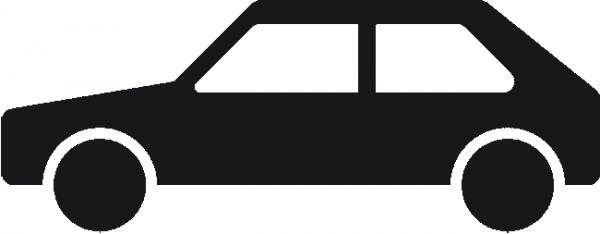 PKW - Symbol aus Thermoplastik
