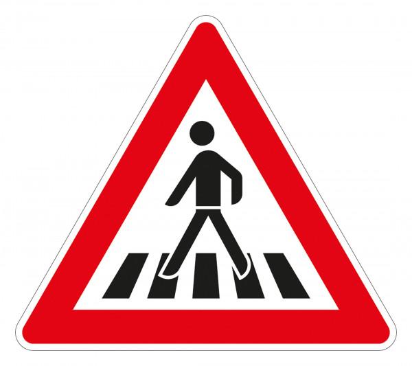 Fußgängerüberweg Aufstellung rechts VZ 145-12 aus Thermoplastik