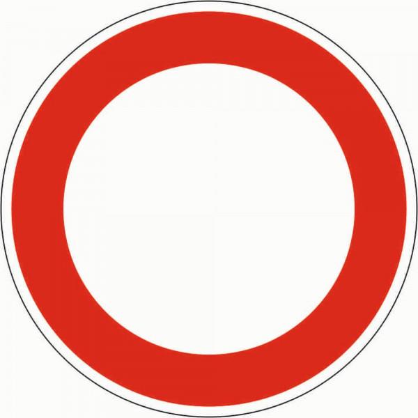 Verbot für Fahrzeuge aller ART VZ 250 aus Thermoplastik