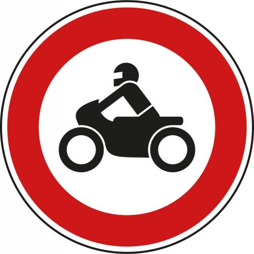 Verbot für Kraftfahrer VZ 255 aus Thermoplastik